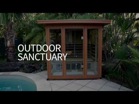 SANCTUARY OUTDOOR 5 FULL SPECTRUM INFRARED SAUNA (4-5 PERSON)