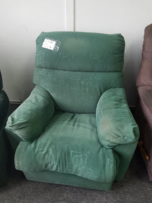 Green Fabric Recliner