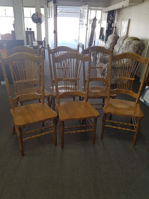 x6 Wooden Dining Chairs