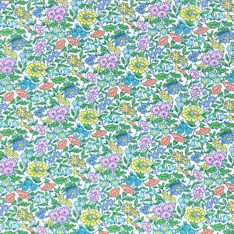 Green Favourite Flowers Tana Lawn