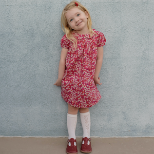 Liberty Print Dress | Baby - Girls | Peter Pan Collar |Puff Sleeves | D'Anjo Print