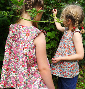 Girl's Liberty Tana Lawn Blouse for Baby to 10 Years | Betsy Print | 6 Colours