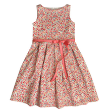 Load image into Gallery viewer, Liberty Tana Lawn Girls Dress | Red Phoebe Print