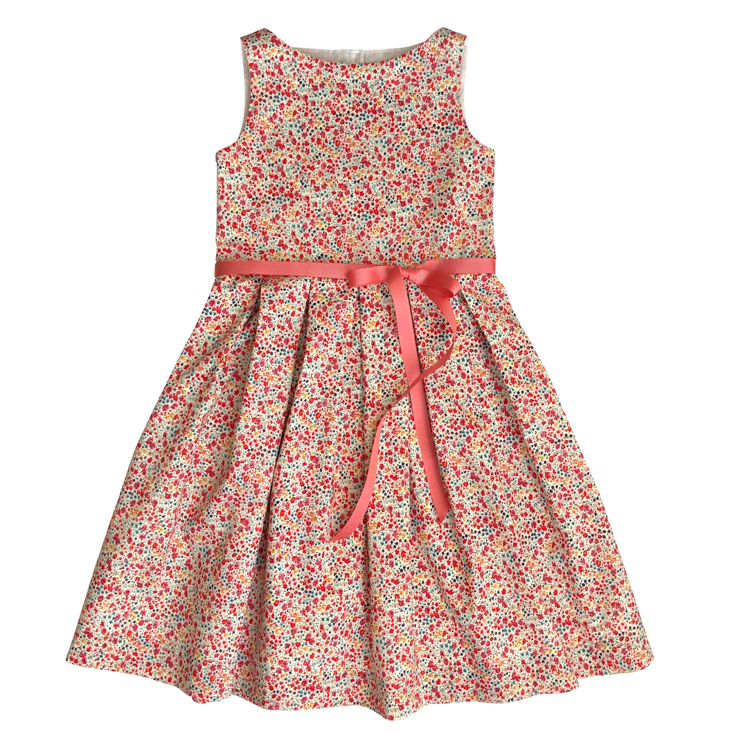 Liberty Tana Lawn Girls Dress | Red Phoebe Print