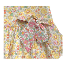 Load image into Gallery viewer, Liberty Print Girls Dress with Bow |Yellow Betsy Print