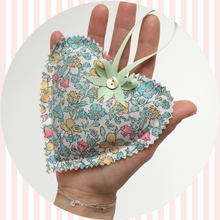 Load image into Gallery viewer, Liberty print heart Shape Lavender Bag | Pouch | Sachet | 7 Print Options