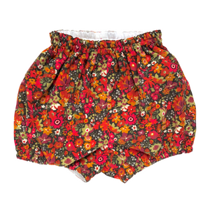 Liberty Corduroy Baby Bloomers | Bubble Shorts | Nappy Diaper Covers | Autumn Flowers