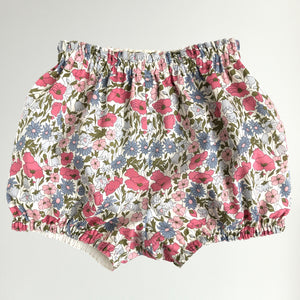 Liberty Print Bloomers | Bubble Shorts | Nappy Diaper Covers | Baby Toddler | Poppy & Daisy | 2 Colours