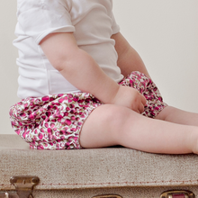 Load image into Gallery viewer, Liberty Corduroy Baby Bloomers | Bubble Shorts | Nappy Diaper Covers | Autumn Flowers
