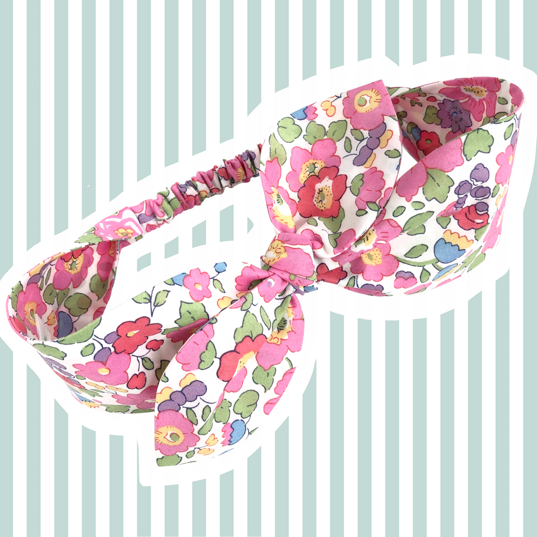 Liberty Print Top-Knot Headband | Pointed Ties | Baby - Adult Sizes |23 Print Options