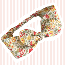 Load image into Gallery viewer, Liberty Print Top-Knot Headband | Baby - Adult Sizes |23 Print Options | Round Ties