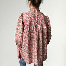 Load image into Gallery viewer, Women's Liberty Tana Lawn Tunic Top Blouse with High Neck | Chive