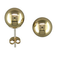 Large 8mm Gold ball stud earrings
