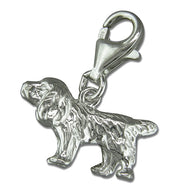 Clip-on Spaniel Dog Charm or pendant hoop