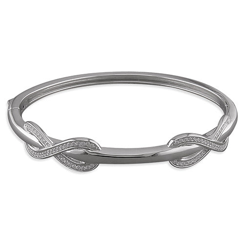 Woman's Double lovers knot bangle