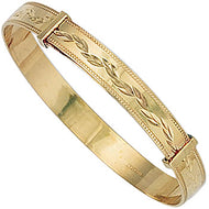 Baby expandable bangle 9ct yellow gold