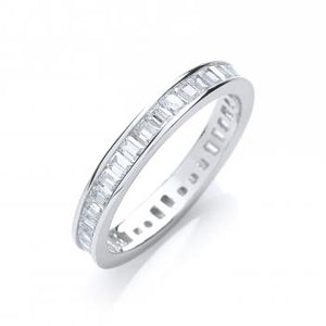 "Full ET ""Vicky""Baguettes Channel Set Cz Ring - London Fifth Avenue jewellery"