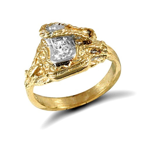Child's saddle ring 9ct gold