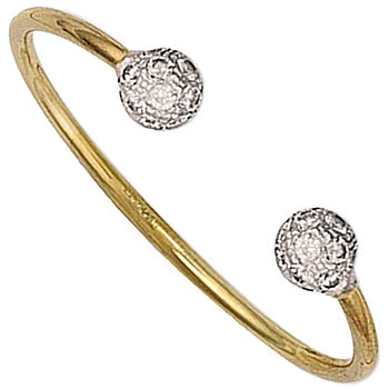 Baby Torque bangle yellow 9ct gold - London Fifth Avenue jewellery