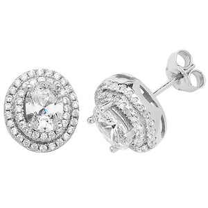 Valentina Oval CZ stud earrings