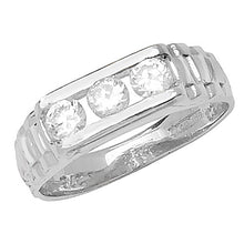 Load image into Gallery viewer, Baby boys Rol style ring 3 stone
