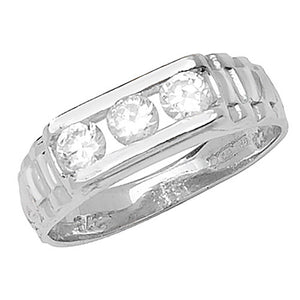 Baby boys Rol style ring 3 stone
