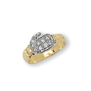 Yellow gold baby/childs boxing glove ring