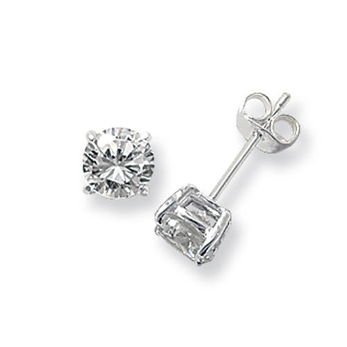 4mm silver stud earring