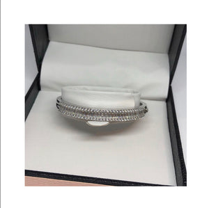 Baby silver baguette bangle