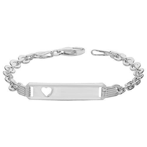 Silver cut out baby bracelet