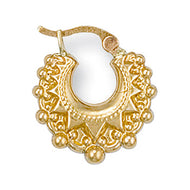 Gold Creoles hoop earrings - London Fifth Avenue jewellery