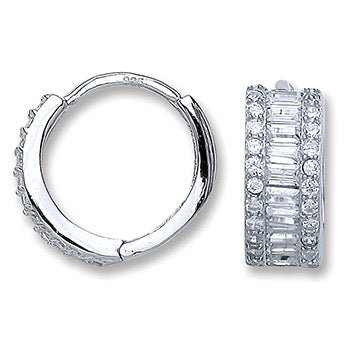 Elisa Silver small hoops - London Fifth Avenue jewellery