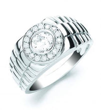 Load image into Gallery viewer, Gents Silver Rolex Style Ring - London Fifth Avenue jewellery