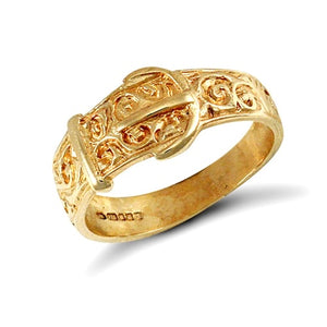 Child's gold buckle ring