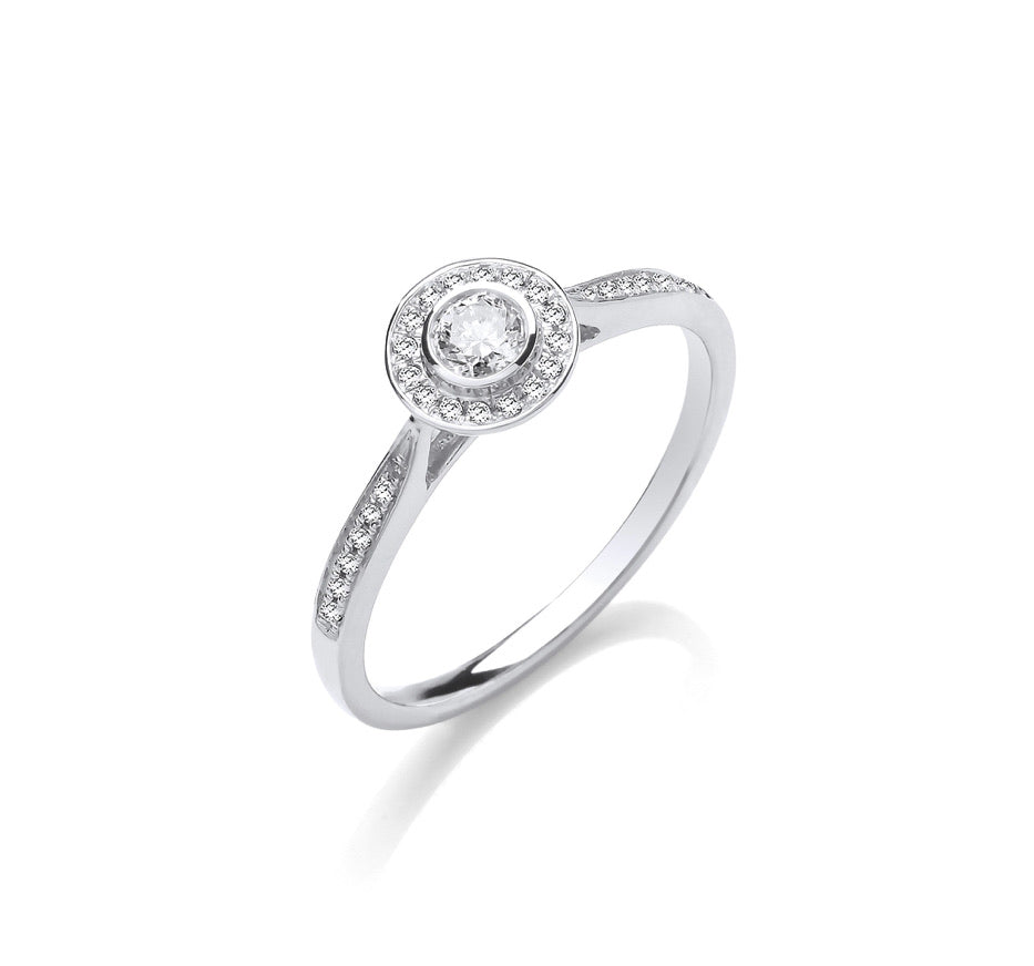 Kira 9ct White Gold 0.25ct Diamond Ring