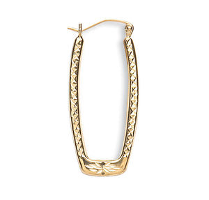 Long Lucy Hoop earrings 9ct Yellow gold