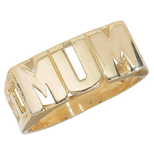 Yellow Gold Curb Side MUM ring