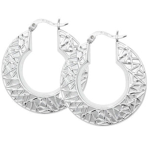 SILVER CREOLE EARRINGS