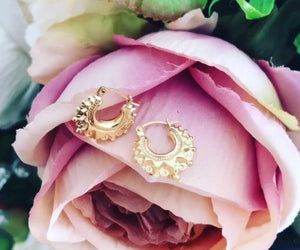 Gold Creoles hoop earrings