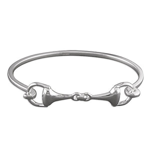 Equestrian design Fancy horses bit bangle
