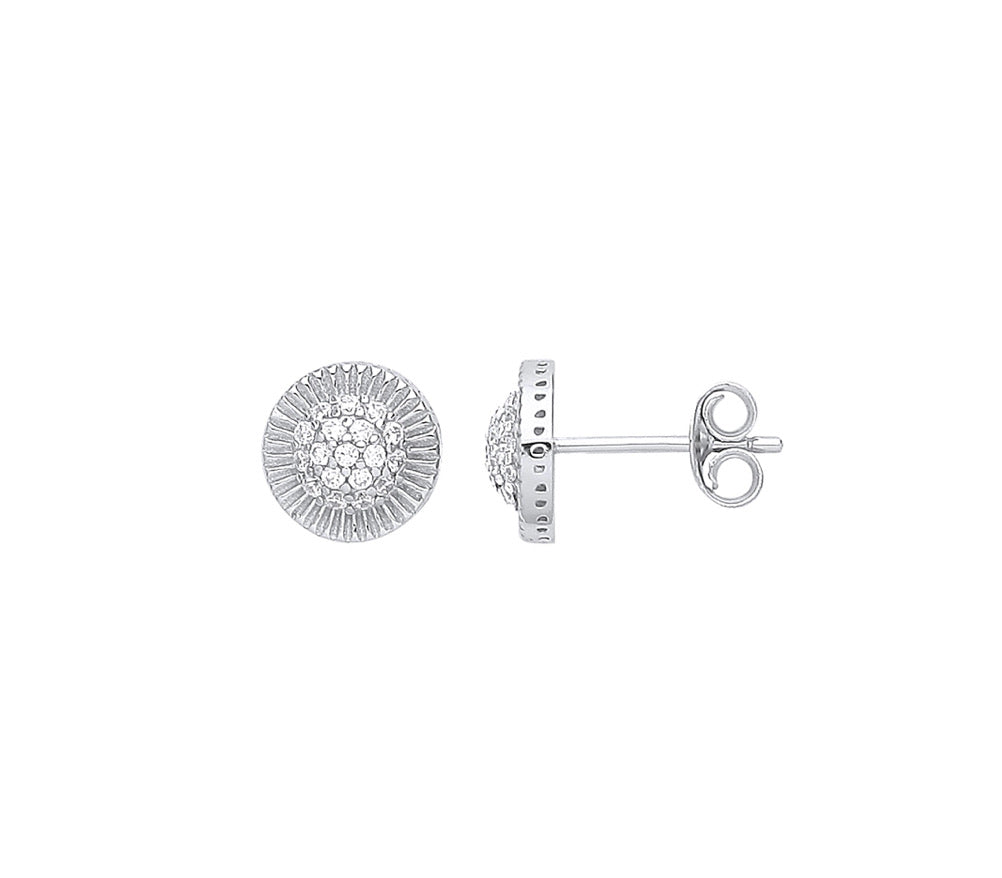 Rolex style stud earrings 3 sizes