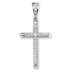Paved large cross pendant