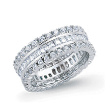 Load image into Gallery viewer, Fully paved round eternity ring 7mm wide