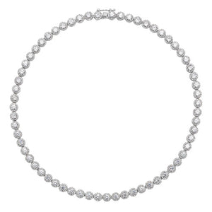 Claw set silver 4mm tennis necklace