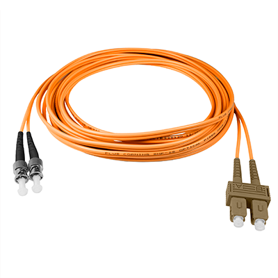 SC-ST - 10M - (62.5) Duplex Multimode Fiber optic patch cord