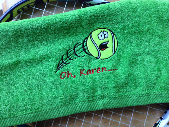 One Personalized Screaming Tennis Ball Sports Sweat Towel