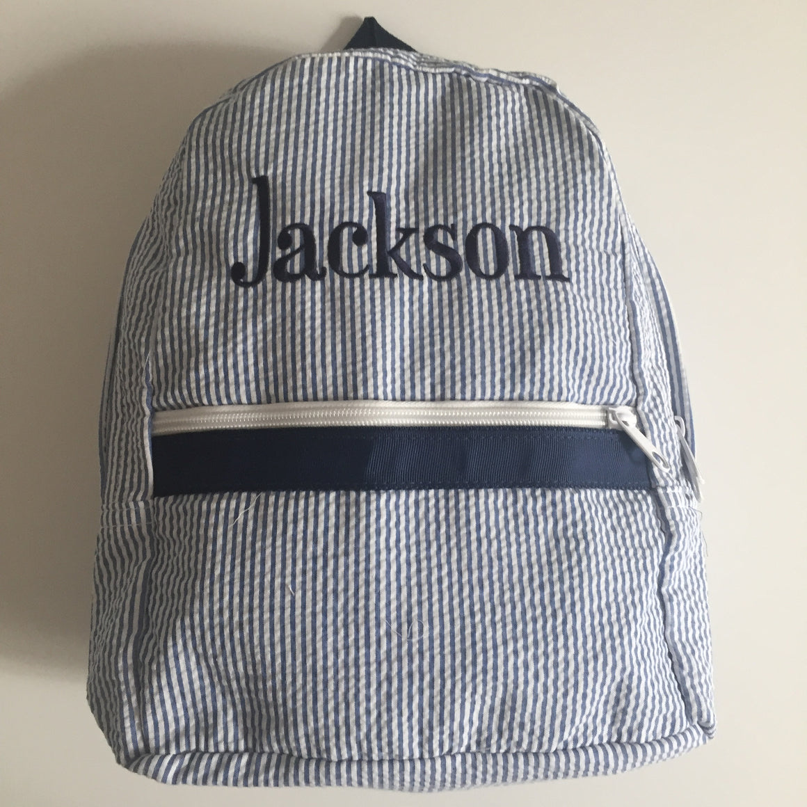 Seersucker Toddler Backpack