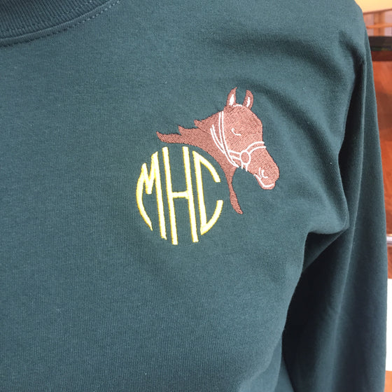 Horse Equestrian Monogrammed T-Shirt (Adult)