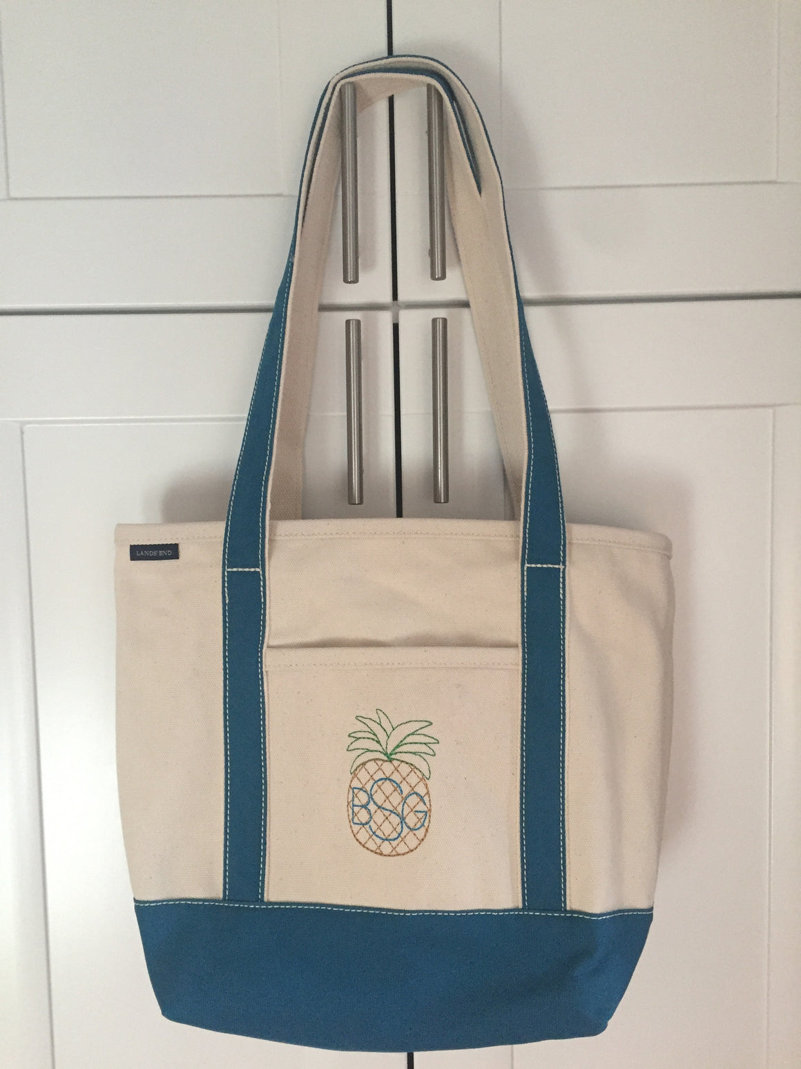 Heavy Weight Custom, Personalized Monogram Boat Tote Bag - Medium, Long Straps