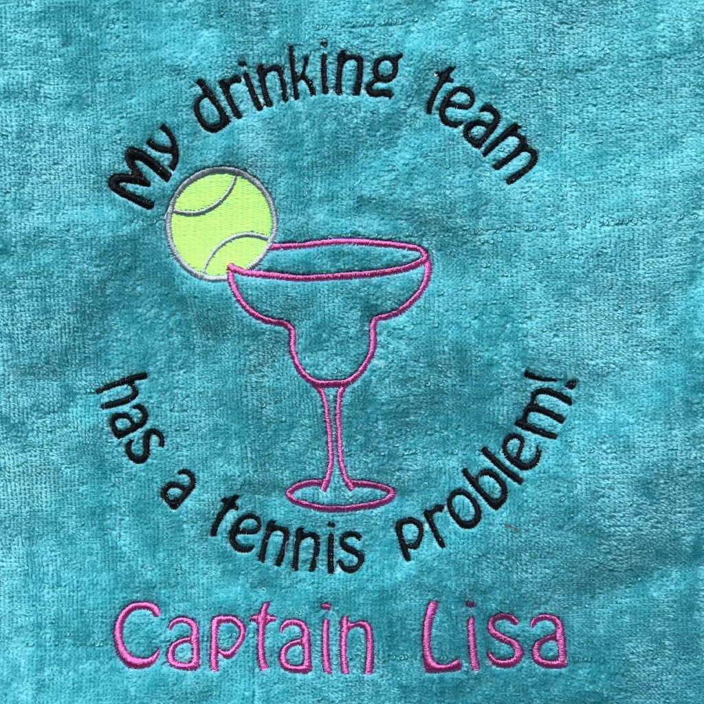 Personalized Tennis Beach Towel